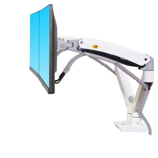 F195A uchwyt biurkowy na dwa monitory