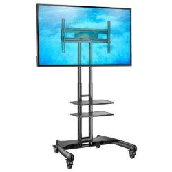 AVA1500-60-2P - mobilny stojak TV z podwójną półką AV do telewizorów 32-70 cali