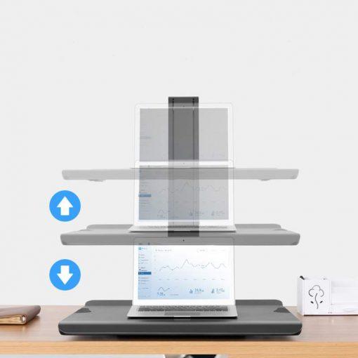 BT15 czarny - nabiurkowa stacja robocza do pracy stojącej siedzącej do lapatopa monitora klawiatury