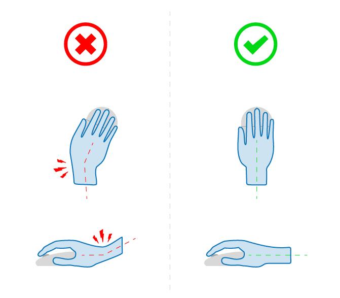 Poprawne trzymanie myszki komputerowe