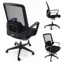 Ergonomiczny fotel biurowy Ergosolid AMO-70 czarny
