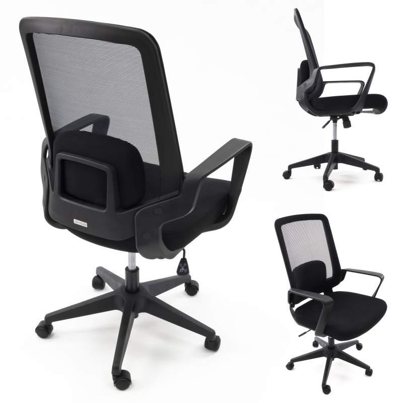 AMO 70 Czarny Ergonomiczny fotel biurowy na kółkach