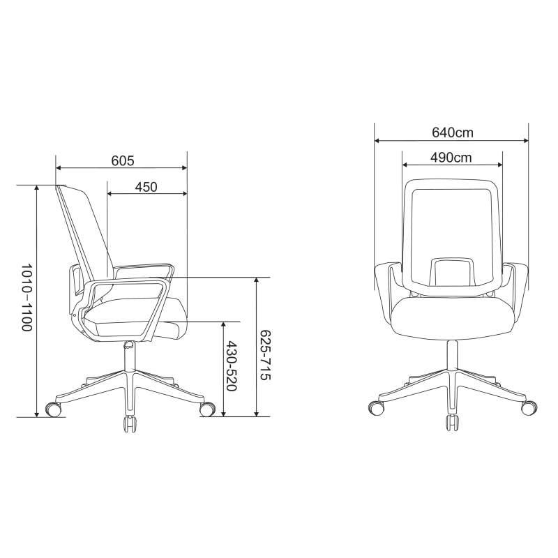 Ergonomiczny fotel biurowy Ergosolid AMO-70 szarny