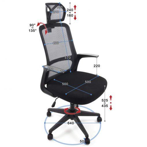 Ergonomiczny fotel biurowy Ergosolid AMO-90 czarny