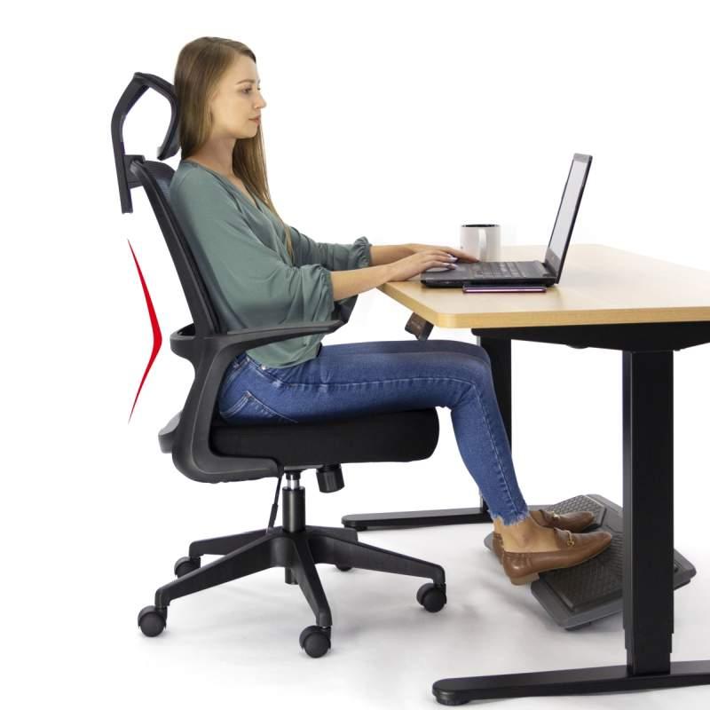 Ergonomiczny fotel biurowy Ergosolid AMO-90 szarny