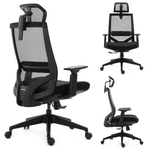 Ergonomiczny fotel biurowy Ergosolid Nario-150 czarny
