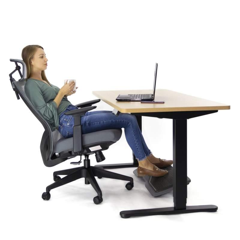 Ergonomiczny fotel biurowy Ergosolid Nario-150 szarny