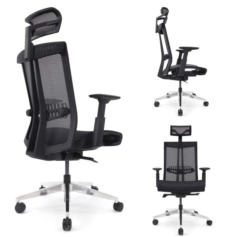 Nario 300 Czarny Niezwykle ergonomiczny fotel biurowy