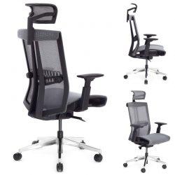 Ergonomiczny fotel biurowy Ergosolid Nario-300 szary