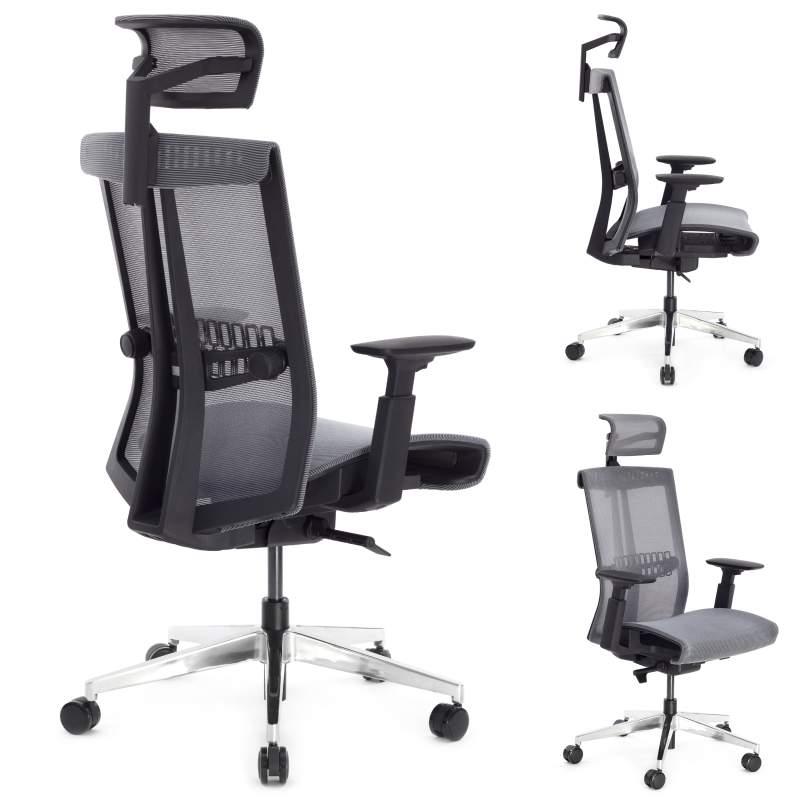 Nario 300 Szary Niezwykle ergonomiczny fotel biurowy