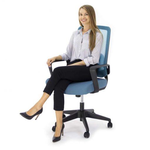 Ergonomiczny fotel biurowy Ergosolid AMO-70 niebieski