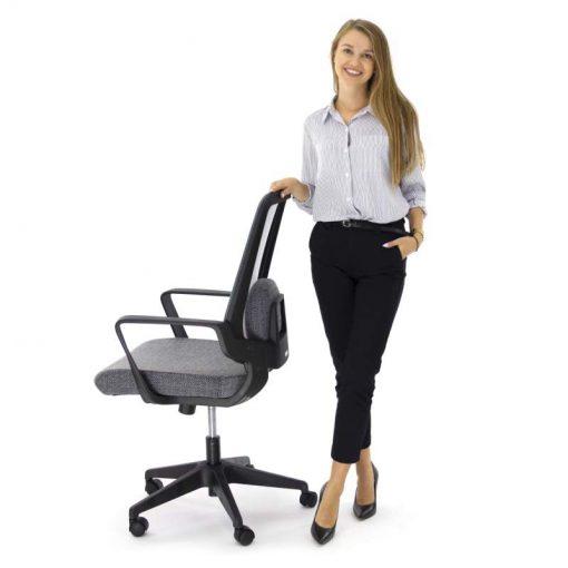 Ergonomiczny fotel biurowy Ergosolid AMO-70 szary